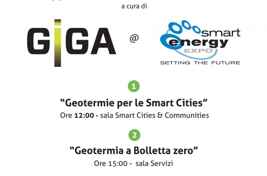 Doppio workshop GIGA Free sulla geotermia a Smart Energy Expo