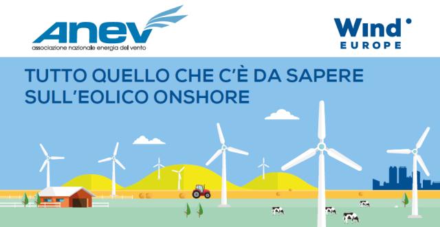 """""""Tutto quello che c'è da sapere sull'eolico onshore"""": la nuova infografica di ANEV e WIND EUROPE"""