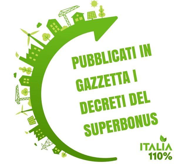 Pubblicati in Gazzetta i Decreti SuperBonus al 110%