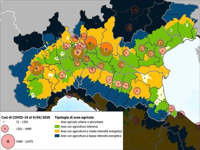 Coronavirus: più contagi nelle aree con agricoltura intensiva