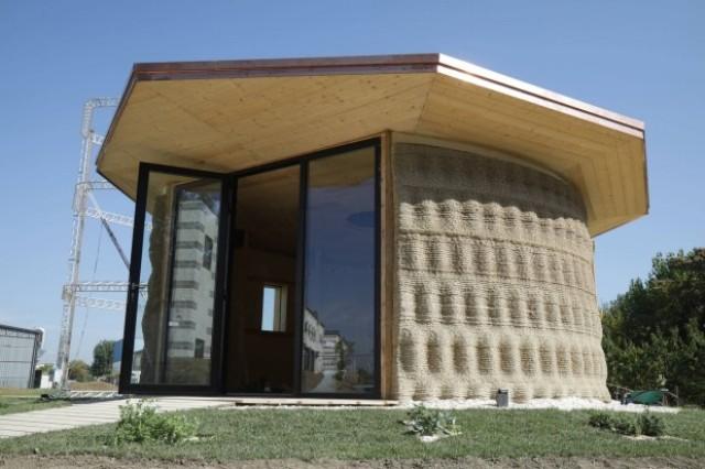 Terra cruda e riso per la casa stampata in 3D: ecco Gaia