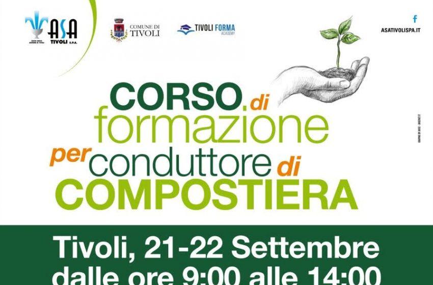 Gestione integrata dei rifiuti: primo corso nazionale per conduttore di Compostiera a Tivoli