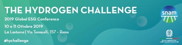 The Hydrogen Challenge: il 10 Ottobre prossimo a Roma