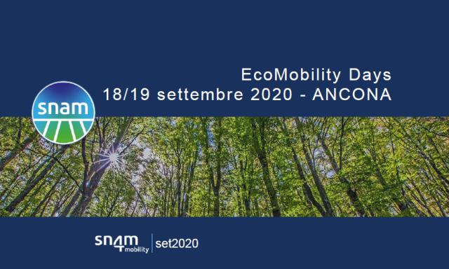 """""""Eco Mobility Days"""" il 18 e 19 settembre ad Ancona con Snam4Mobility"""