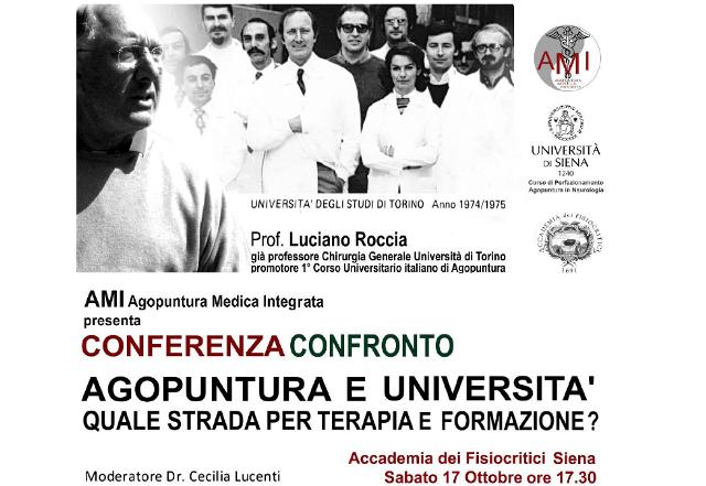 Agopuntura e Università: Quale strada per terapia e formazione? Il 17 ottobre a Siena