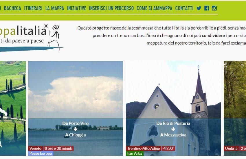 """""""Ammappa l'Italia"""", la guida collettiva dei cammini a piedi di Italia che Cambia"""
