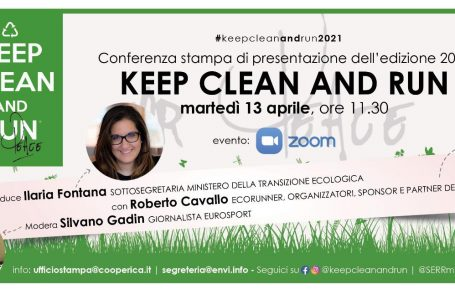 """Keep Clean and Run"": conferenza stampa online il 13 aprile"